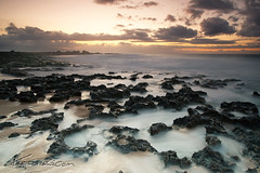 Ke'iki Glow ( KristoforG) Tags: sunset beach clouds hawaii big sand rocks long exposure waves north sharp shore gitzo gellert keiki kristofor canon1022efs 1d3