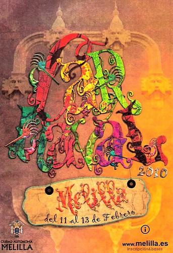 Cartel del carnaval 2010 Melilla