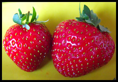 le prime fragole dell'anno...... (ritvaester) Tags: red food fruit strawberries rosso fragole