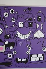 AroundThePurpleBelt - 04 (Jepeinsdesaliens) Tags: art lines illustration graffiti design sketch purple toaster drawing dessin characters skall violine posca cissor poscapens poscaart poscadesign
