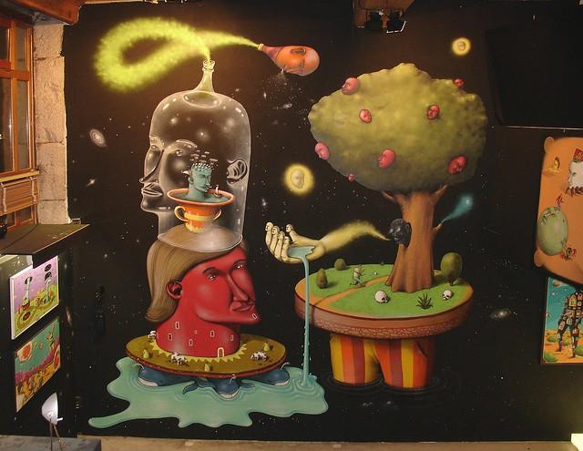 mural for the Paranoya&Shtrihi exhibition