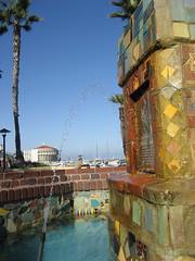 gorgeous tile fountain (chasingbluebirds) Tags: island avalon 2010 santacatalina