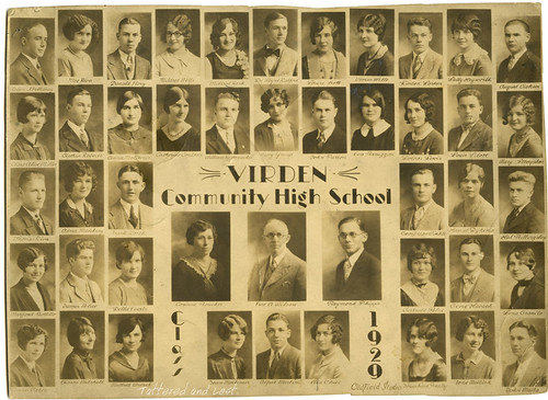 Virden Community High School 1929_tatteredandlost