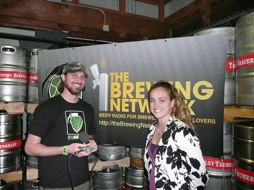 The Brewing Network's Justin Crossley interviewing Meg Gill from Speakeasy