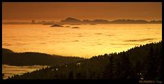 Mer de nuages (Yoan Bernabeu) Tags: orange sun mer nature montagne alpes grenoble canon de landscape eos soleil altitude coucher beauté nuage nuages paysage vercors bernabeu oranger panoramique chamrousse yoan belledonne naturel orangé 400d