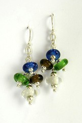 """Recyled Glass Bead Earrings • <a style=""""font-size:0.8em;"""" href=""""https://www.flickr.com/photos/37516896@N05/4362036333/"""" target=""""_blank"""">View on Flickr</a>"""