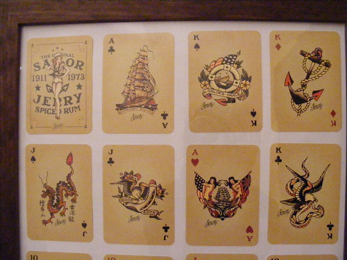 Sailor Jerry tattoo playing cards