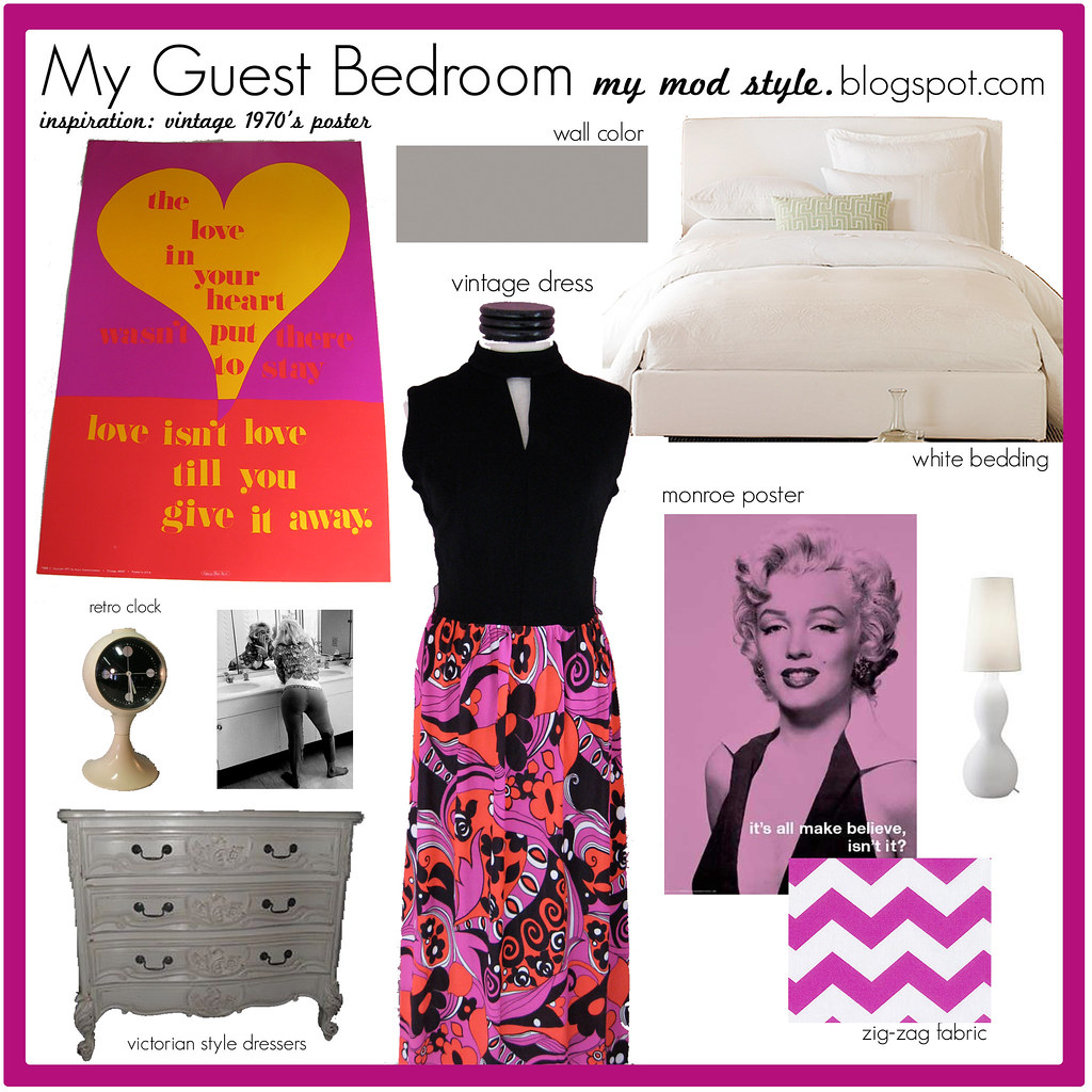Guest Bedroom Design Board