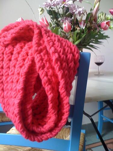 Pink bubblegum scarf