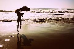 Skippidy Doo Da (cheyyyeiserttt) Tags: ocean reflection rock bay three jump waves arch shadows footprints carol skip
