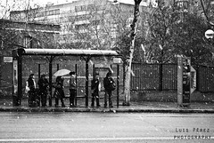 boring ice (luispf39) Tags: madrid espaa snow bus rain photography photo spain waiting foto luis esperando mdr autobs prez luispf39 luisprezphotography