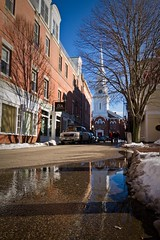 North Church Reflection 2 (Matt Currier Photography) Tags: new winter snow reflection church north newengland nh hampshire tokina portsmouth 1116