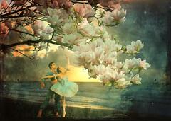 voice of spring (Mara ~earth light~) Tags: sea flower texture photoshop dance spring dancers fantasy creativecommons romantic brava waltz intuition magicalmoments poesie idream exploreworthy memoriesbook awardtree artistictreasurechest heavenlycaptures miasbest mara~earthlight~ strausjohann