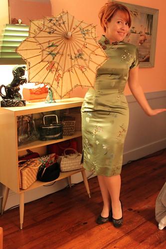 Vintage dress & parasol