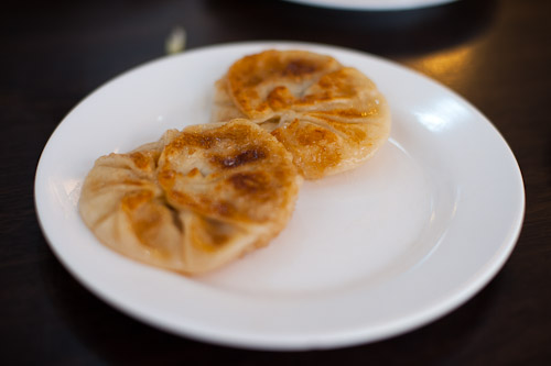 Fried pork-filled dumplings at Khrua Paking, a Chinese restaurant in Bangkok