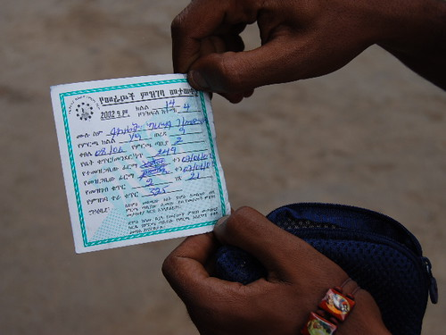 Eection Card for elections in Ethiopia in May 2010