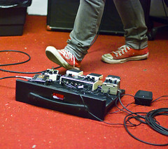 pedals (sarahluv) Tags: chris ireland red rehearsal guitar belfast sneakers richard converse pedals practice davis northern chucks harden niall studio5 heliopause mccorry