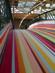 Carlisle Station Homebase Advert Bridge (Gilli8888) Tags: bridge rainbow paint colours stripes railway railwaystation cumbria carlisle homebase railwaybridge adverts homebaseadvert