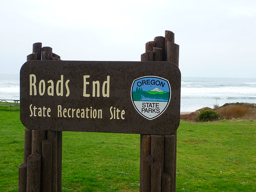 roads end sign