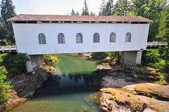 Dorena Covered Bridge (uGoTours) Tags: bridge oregon roadtrip covered coveredbridges oregoncoveredbridges coveredbridgesinoregon oregonscenicdrive oregonplacesofinterest drivesandroadtrips