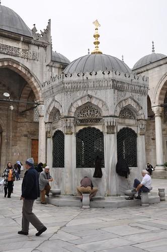 Yeni Cami avlu