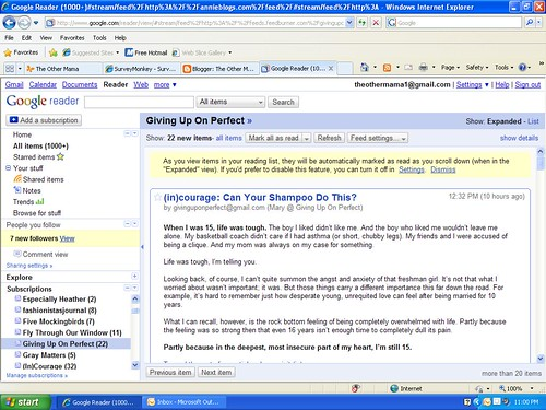 Google Reader shot