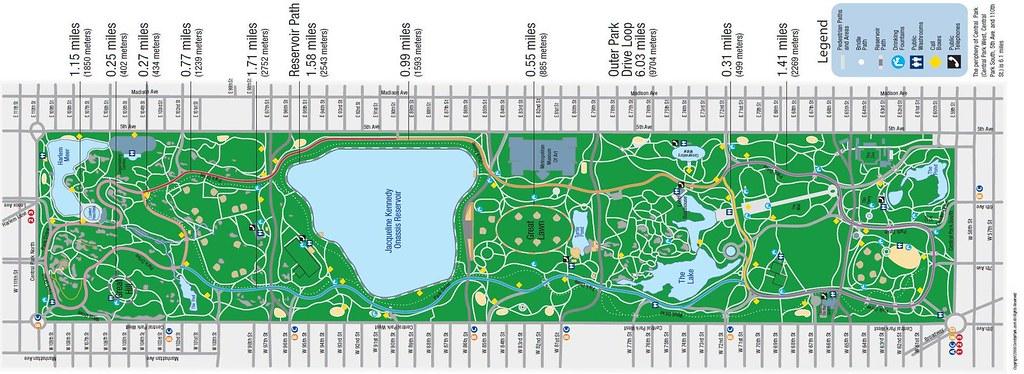 Central Park Running Map 01