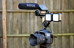 Canon 7D video setup with Rode VideoMic and Sigma 30mm f/1.4 lens (Cameron Moll) Tags: sigma 30mm canon7d simaled rodemic