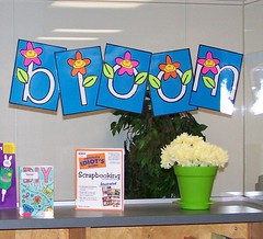 Let Your Creativity Bloom - part 3 (Enokson) Tags: flowers school fiction signs flower creativity reading book spring edmonton seasons library libraries decoration creati
