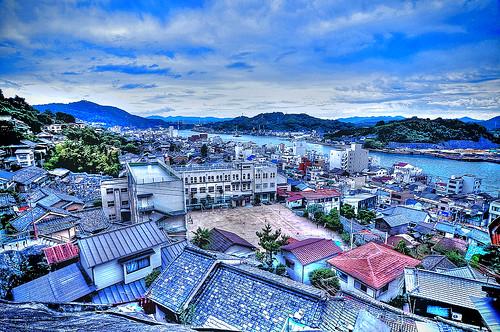 Onomichi City /HDR blue