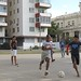 Soccer game, plaza in Vedado