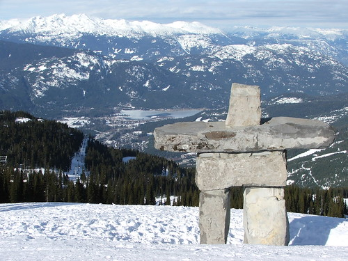 Statue of Ilanaaq on Whistler Mountain copyright Бормалагу рски GNU Free documentation