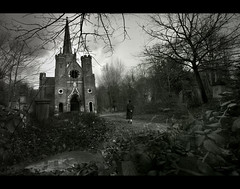 abney park chapel (sadaiche (Peter Franc)) Tags: park man london overgrown cemetery dark walking moody cemetary chapel graves spooky gravestones abney abneypark gothy abneyparkcemetary peoplecantspellcemetery