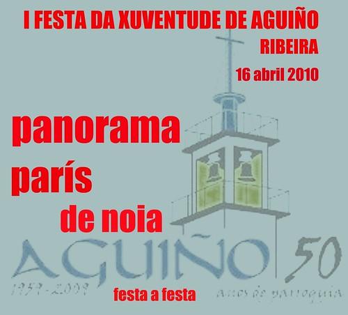 I Festa da Xuventude de Aguiño - Ribeira - 2010 - cartel