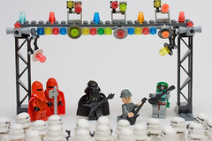 Vader entertains the troops (Sad Old Biker) Tags: show uk england people storm trooper brick fall film rock canon movie geotagged toy photography star photo starwars concert funny europe kevin force lego general photos guitar lol stage joke awesome gig guard performance band grand humour best photograph darth empire laugh jedi stormtrooper imperial parody hunter boba spoof wars vader minifig wtf lmao ever coolest bounty troops anthropomorphism entertain anthropomorphic fett tk421 lampoon humourous stormie poulton tarkin moff sendup kevinpoulton sadoldbiker