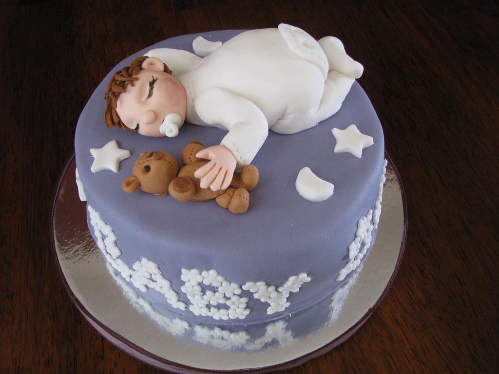 Baby Bow Babyshower cake