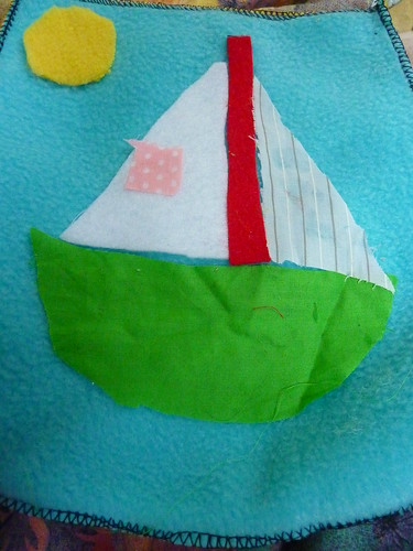 sailboat crafts pocket fleece