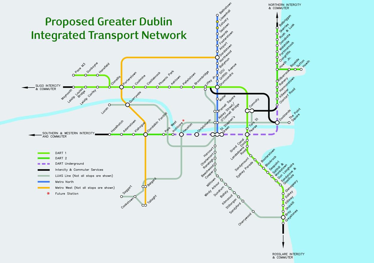 Dublin Dart Map on
