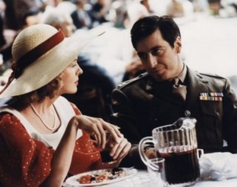 A Scene from The Godfather with Diane Keaton and Al Pacino.