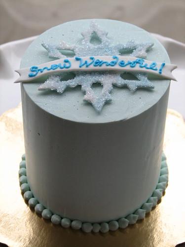 Mini Snowflake Cake