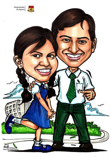Couple caricatures @ Singapore Polytechnics A3