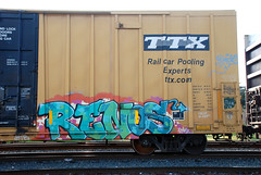 Renos (huntingtherare) Tags: train bench graffiti reno freight renos ktb htk benching viser meyagi sworne northwesternunitedstates