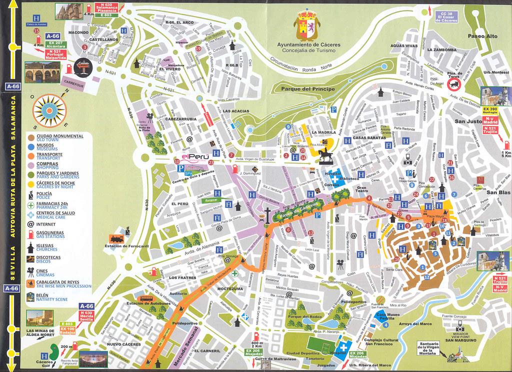 mérida espanha mapa Mapas de Cáceres, Extremadura, Espanha   Dobrar Fronteiras mérida espanha mapa