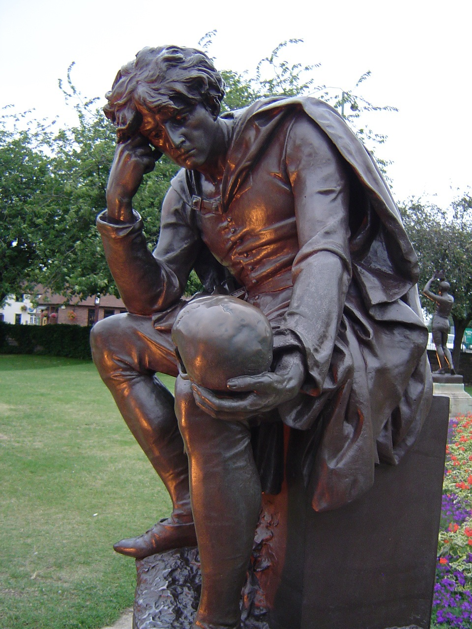 Lord Ronald Gower (British, 1845-1916) Hamlet (1888) Bronze. Life-size. Stratford-upon-Avon, United Kingdom. Photo via Wall Flower Gone Wild, Flickr.