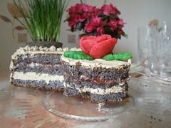 Poppy seed birthday cake 1 (Dajda) Tags: cake birthdaycake marzipan poppyseed