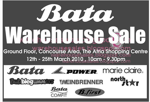12 - 25 Mar: Bata Warehouse Sale @ The Atria Shopping Centre