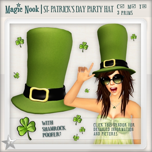 [MAGIC NOOK] St. Patrick's Day Party Hat