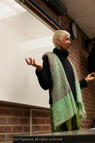 Ericka Huggins speaks at Laney College