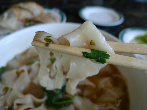 Knife-Cut Noodles Close Up
