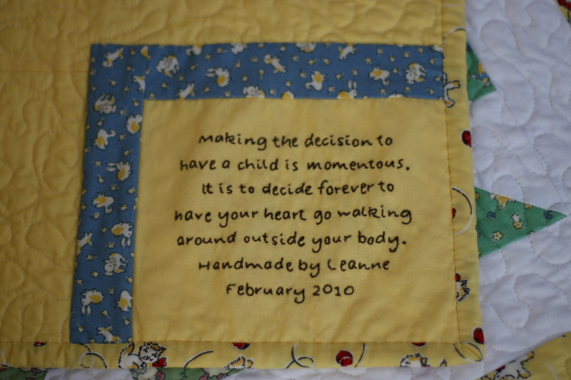 Every quilt needs a label